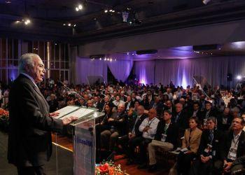 Ribeirão Preto (SP) - O presidente Michel Temer discursa na sessão de encerramento da conferência Abertura da Safra de Cana, Açúcar e Etanol 2018/2019 (Beto Barata/PR)