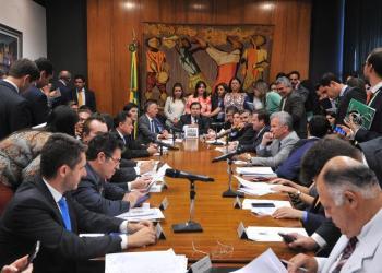 Reunião de Líderes no último dia 6 de março - Foto: Cortesia Agência Câmara