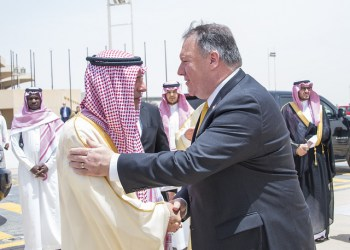 Os preços do petróleo continuam a subir. O secretário de Estado dos EUA, Mike Pompeo, durante visita na Arábia Saudita Foto: State Department photo/ Public Domain