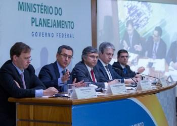 O ministro da Fazenda, Eduardo Guardia, participa de coletiva de imprensa sobre PLDO. Foto: Gustavo Raniere/MF