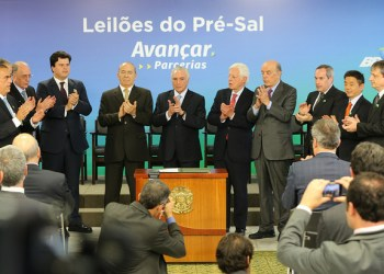 BRASÍLIA-DF, 31/01/2018 Cerimônia de Assinaturas dos Contratos da 2ª e 3ª Rodadas de Partilha de Produção no Pré-Sal. Palácio do Planalto. Foto: Saulo Cruz/MME