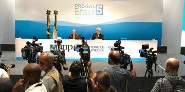 Coletiva de imprensa após a 5a rodada do pré-sal. Foto: Cortesia ANP