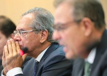 Paulo Guedes, ministro da Economia, e Bento Albuquerque, ministro de Estado de Minas e Energia. Foto: Saulo Cruz/MME