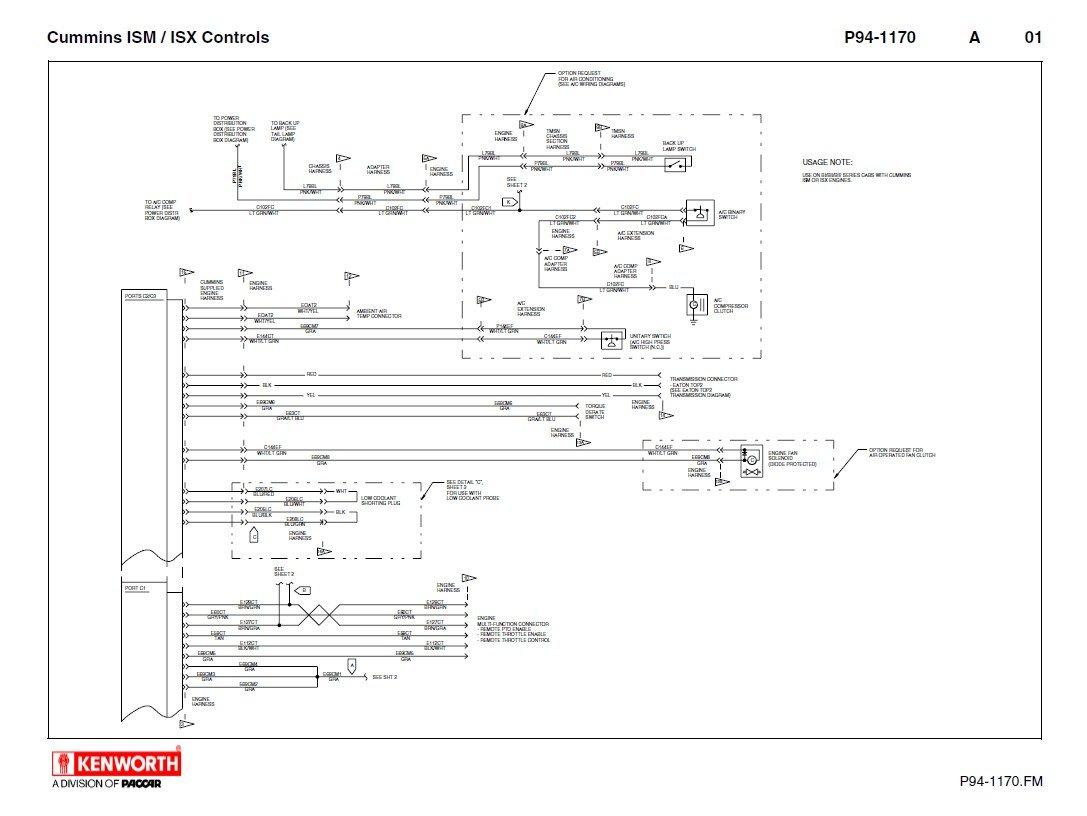 Kenworth T660 Cummins ISM ISX Schematics Manual PDF