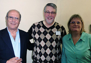 Dean Weaver, EPC Committee on Administration member,  with St. Andrews Moderator Jorge Lopes (left) and past Moderator Catherine Ogden