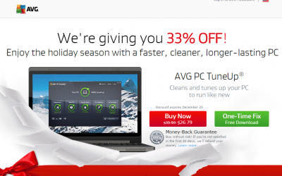 AVG   Christmas 2015 PC TuneUp offer