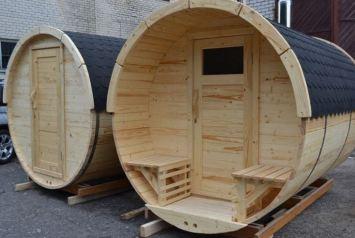 Beczka sauna drewniana, może służyć także za domek