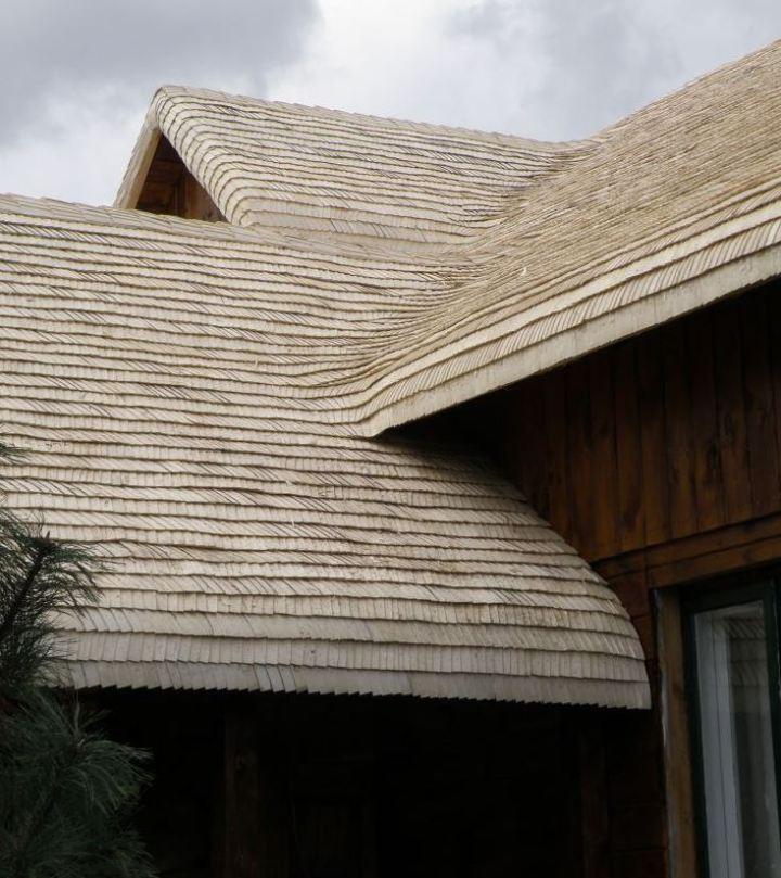 Dach drewniany z wióra osikowego