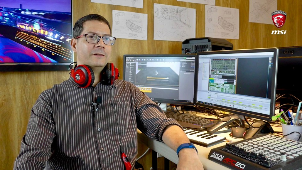Lead audio designer working on MSI Electric City VR experience