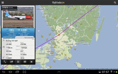 WIFIn avulla pääsi myös flightradariin ;)