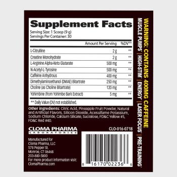 Hellion Supplement Facts