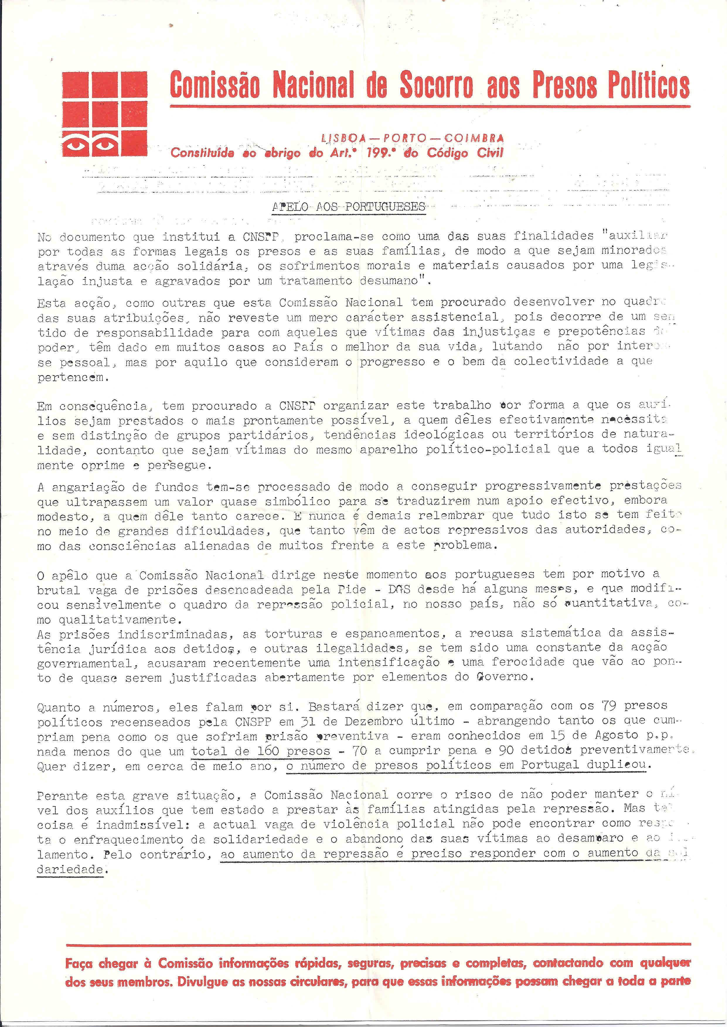 Comisso nacional de socorro aos presos polticos ephemera comisso nacional de socorro aos presos polticos ephemera biblioteca e arquivo de jos pacheco pereira fandeluxe Gallery