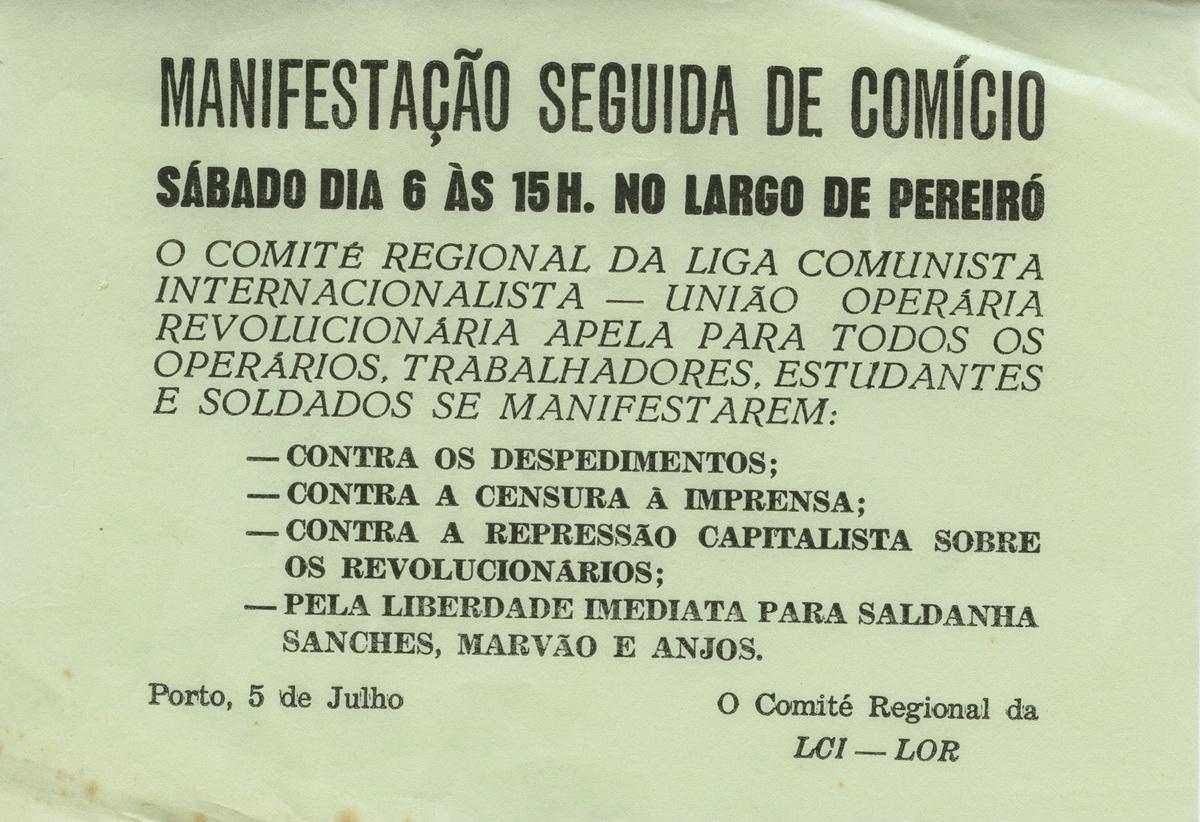 PORTO_PANFLETO_MANIFESTAÇAO_SEGUIDAdeCOMICIO_184_BR