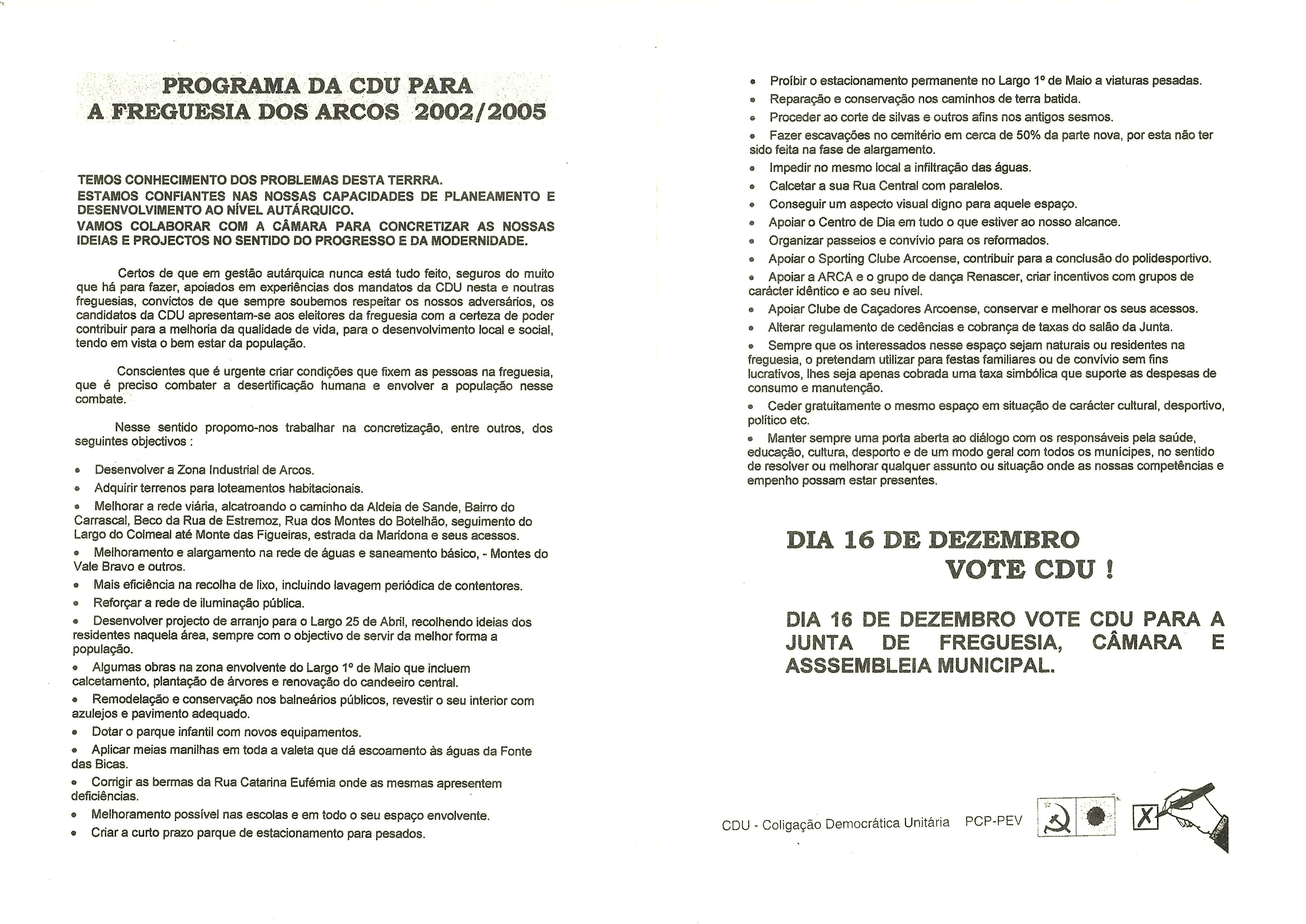 ARCOS ESTREMOZ CDU 2001 2