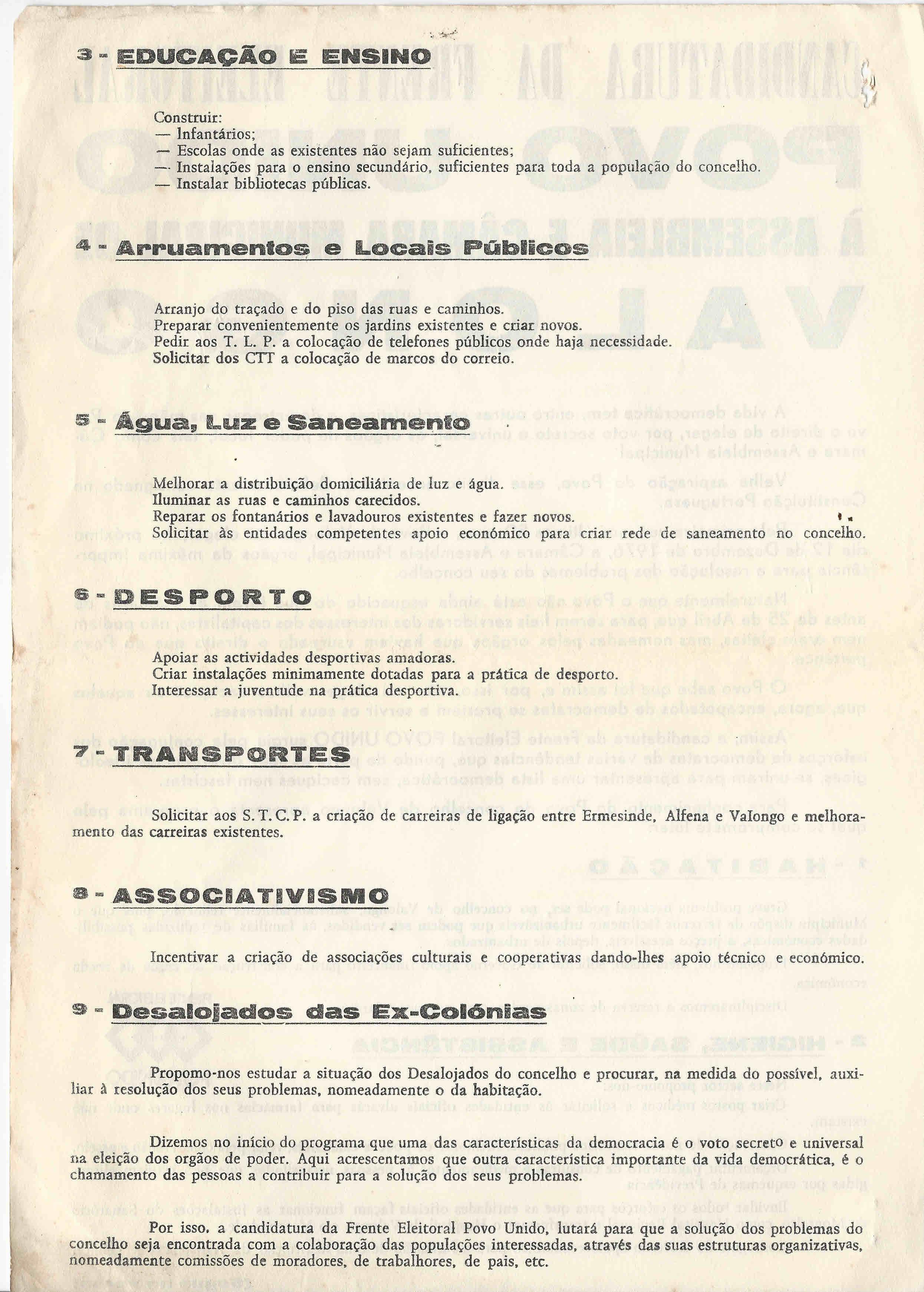 531bea4d52b ELEIÇÕES AUTÁRQUICAS DE 1976 – VALONGO – FEPU ...