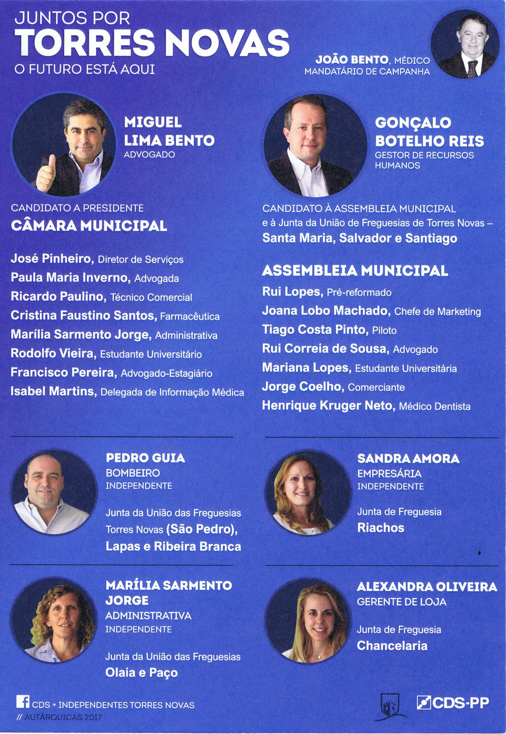ELEIÇÕES AUTÁRQUICAS DE 2017 – TORRES NOVAS – CDS ... 5b8198d247e67