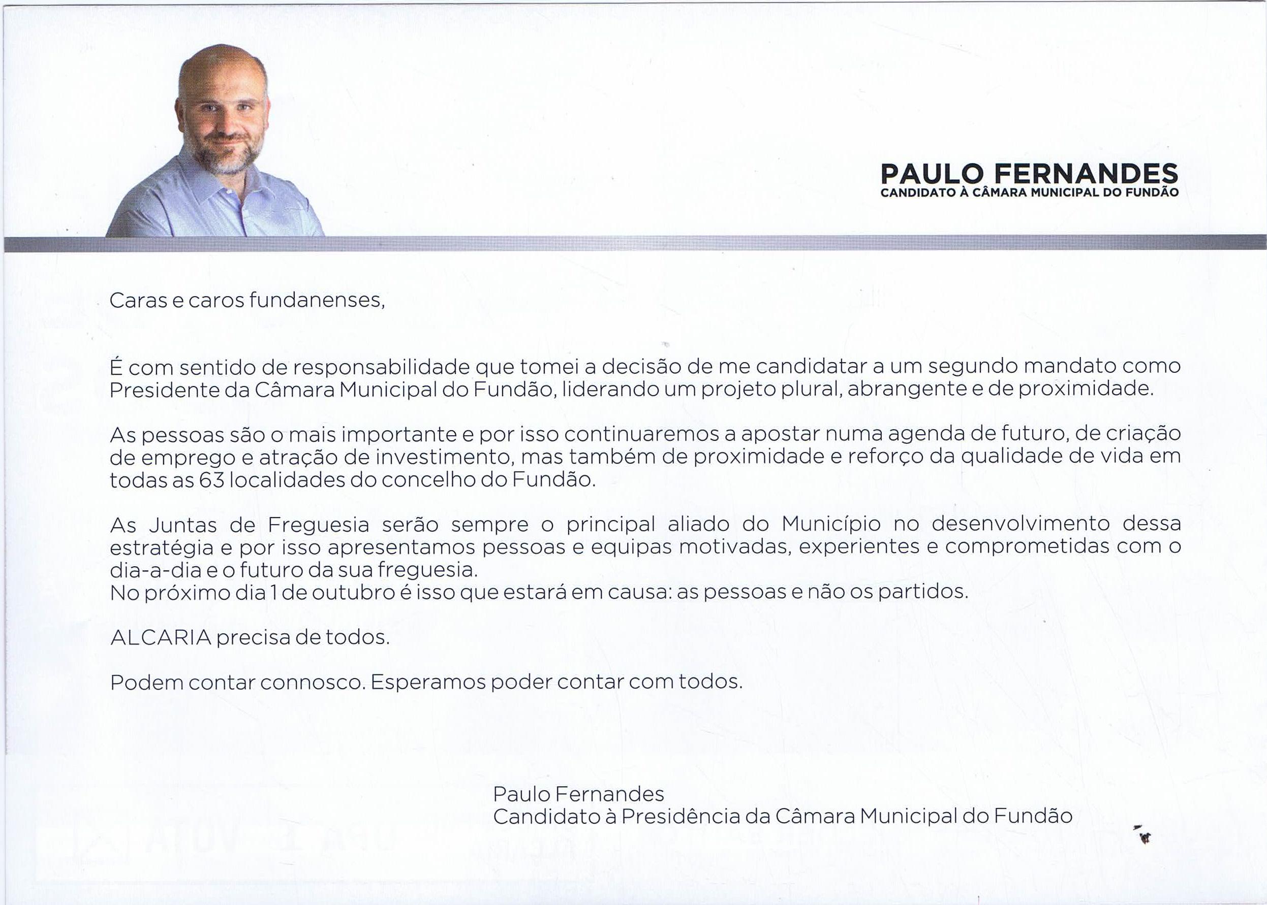 283f61a5ddb ELEIÇÕES AUTÁRQUICAS DE 2017 – FUNDÃO – FREGUESIA DE ...