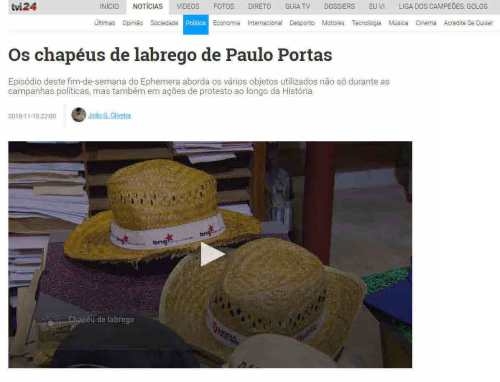 TVI24 – OS CHAPÉUS DE LABREGO DE PAULO PORTAS – EPHEMERA ... 1c865477b4e