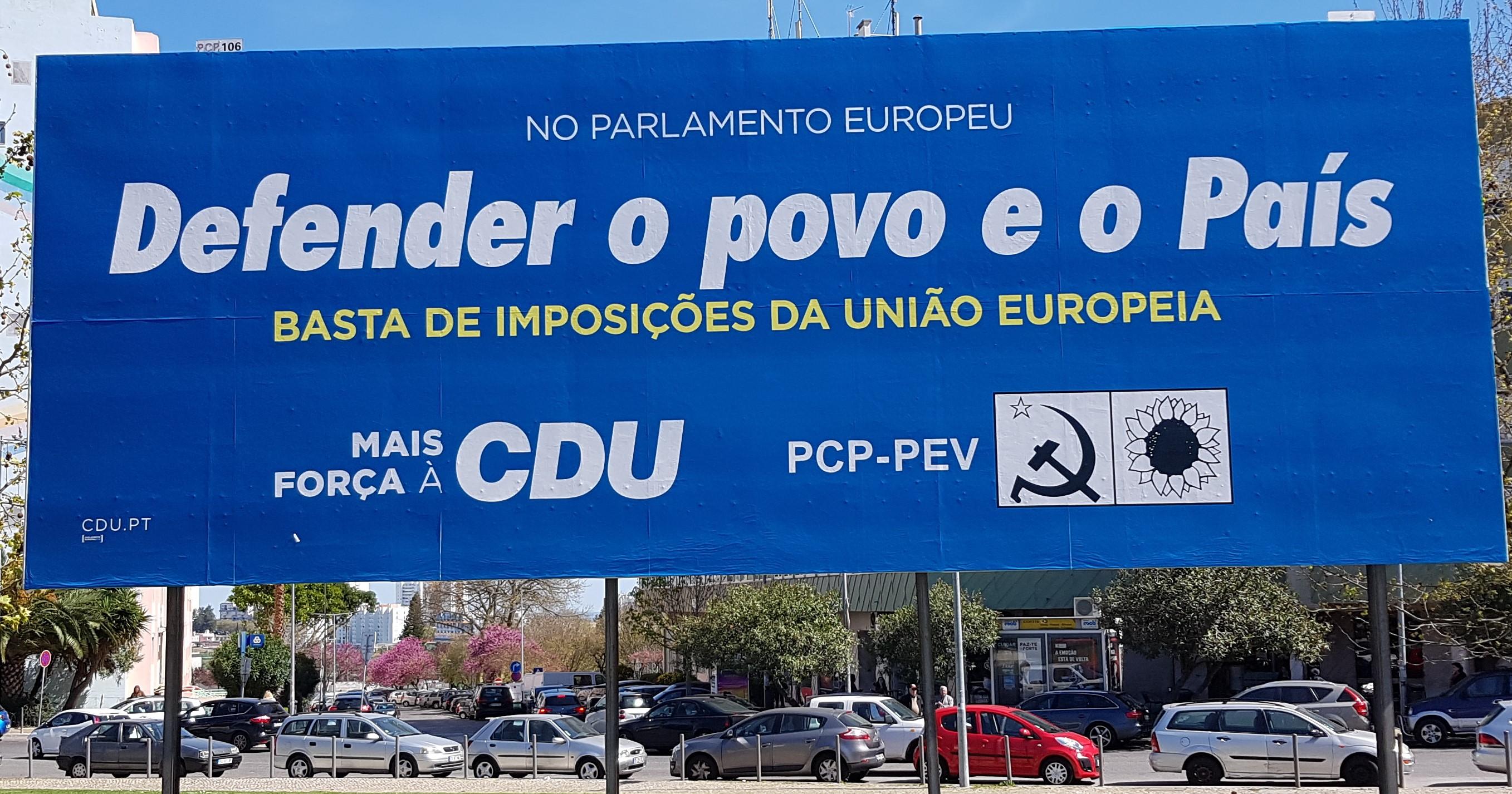 4a9d3c37dfe ELEIÇÕES PARA O PARLAMENTO EUROPEU – 2019 – CDU – EPHEMERA ...