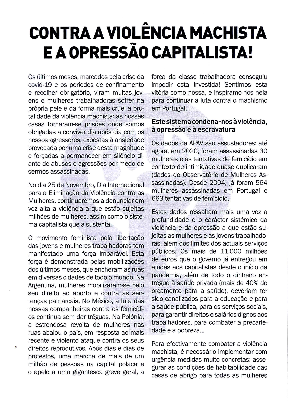 esquerda revolucionaria 2020 panfleto feminista 2