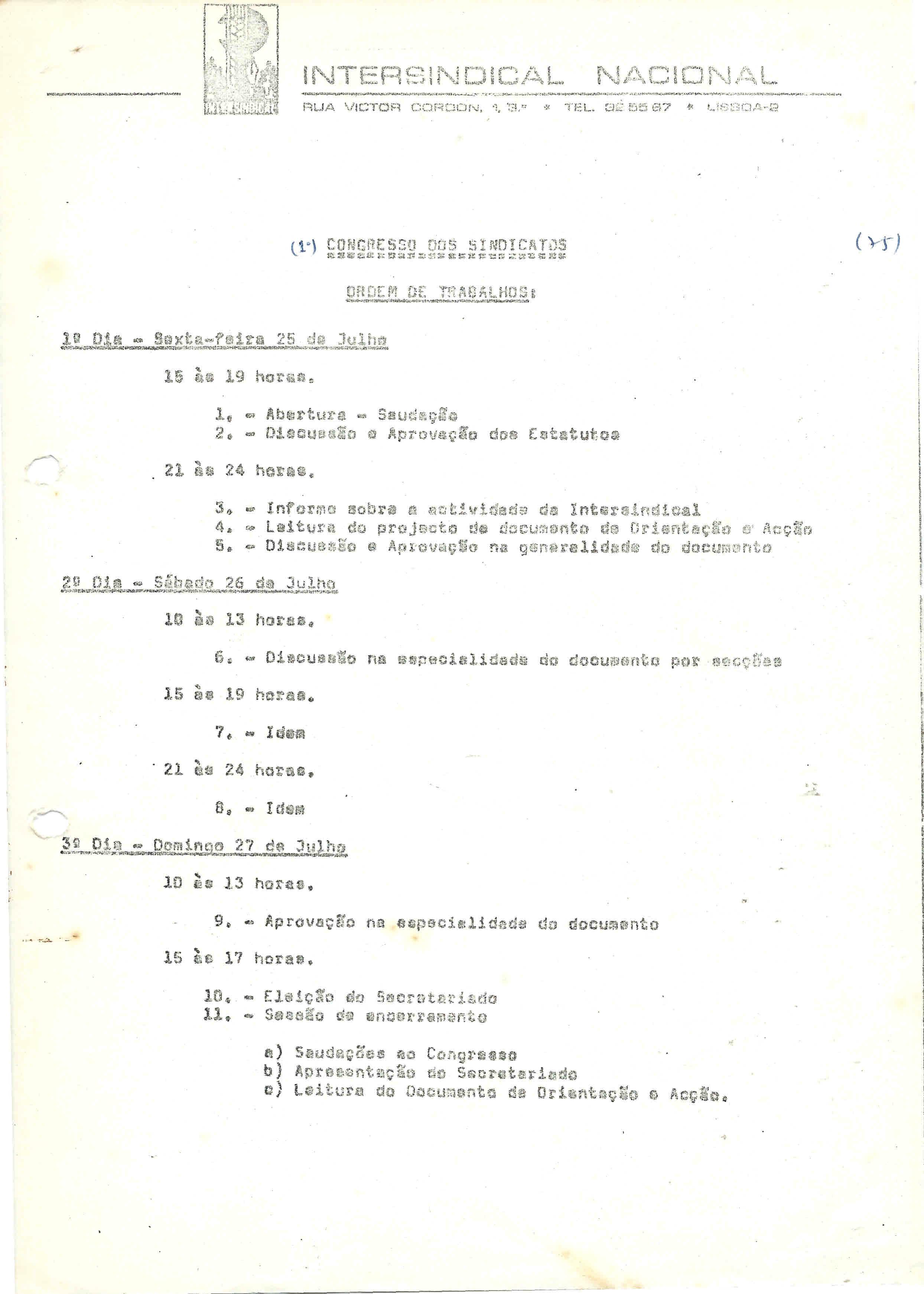 intersindical ot 1976
