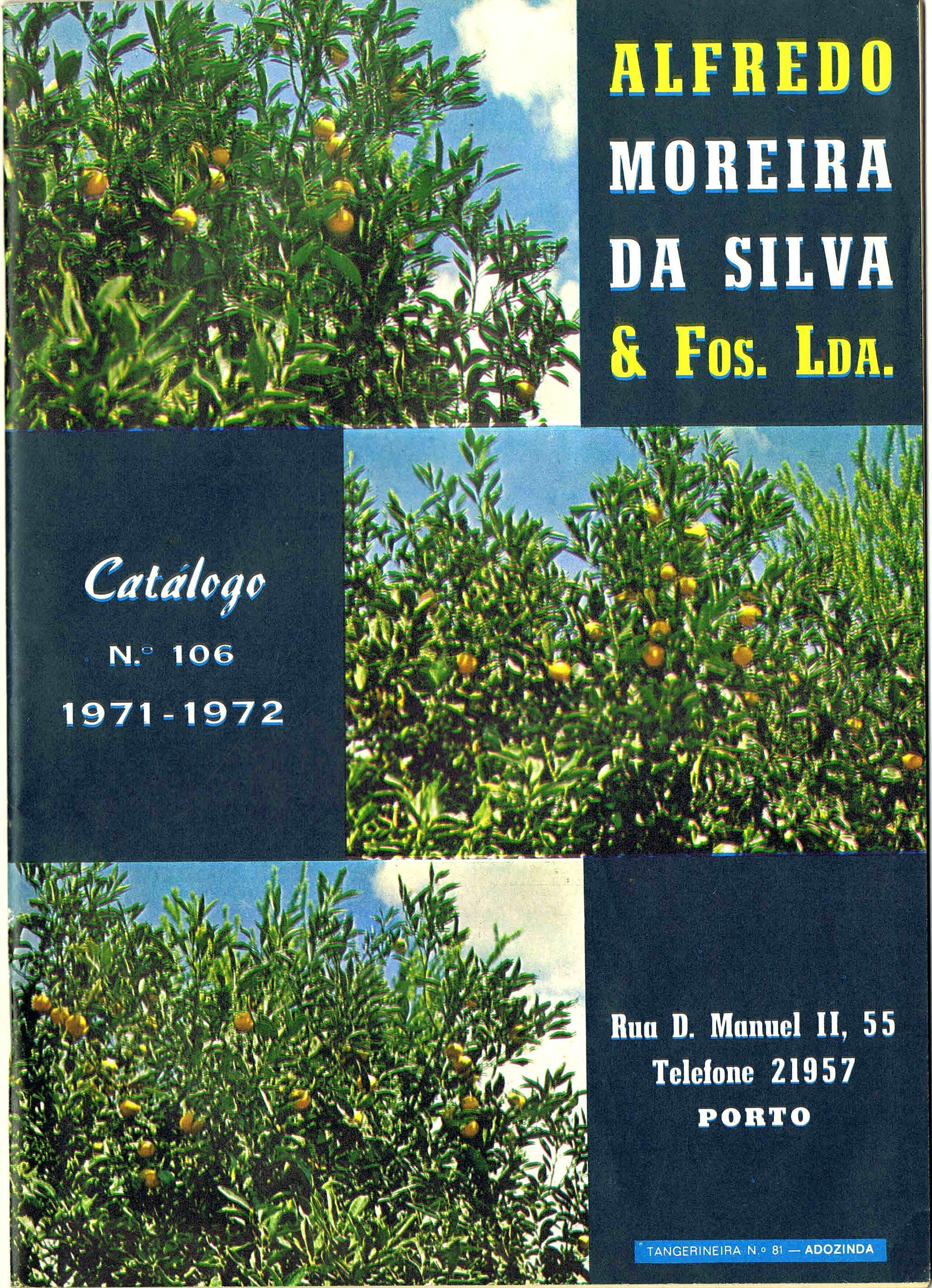 CATALOGO HORTICOLA MOREIRA DA SILVA & Fos Lda nº 106 1971-1972