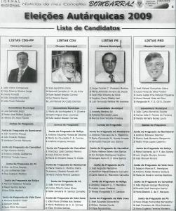 CANDIDATOS BOMBARRAL
