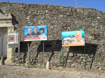 Castelo de Vide Cartazes PS e PSD