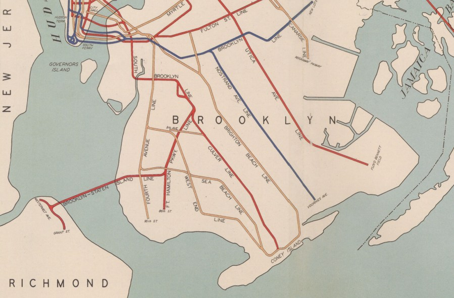 vintage subway maps   Ephemeral New York Okay