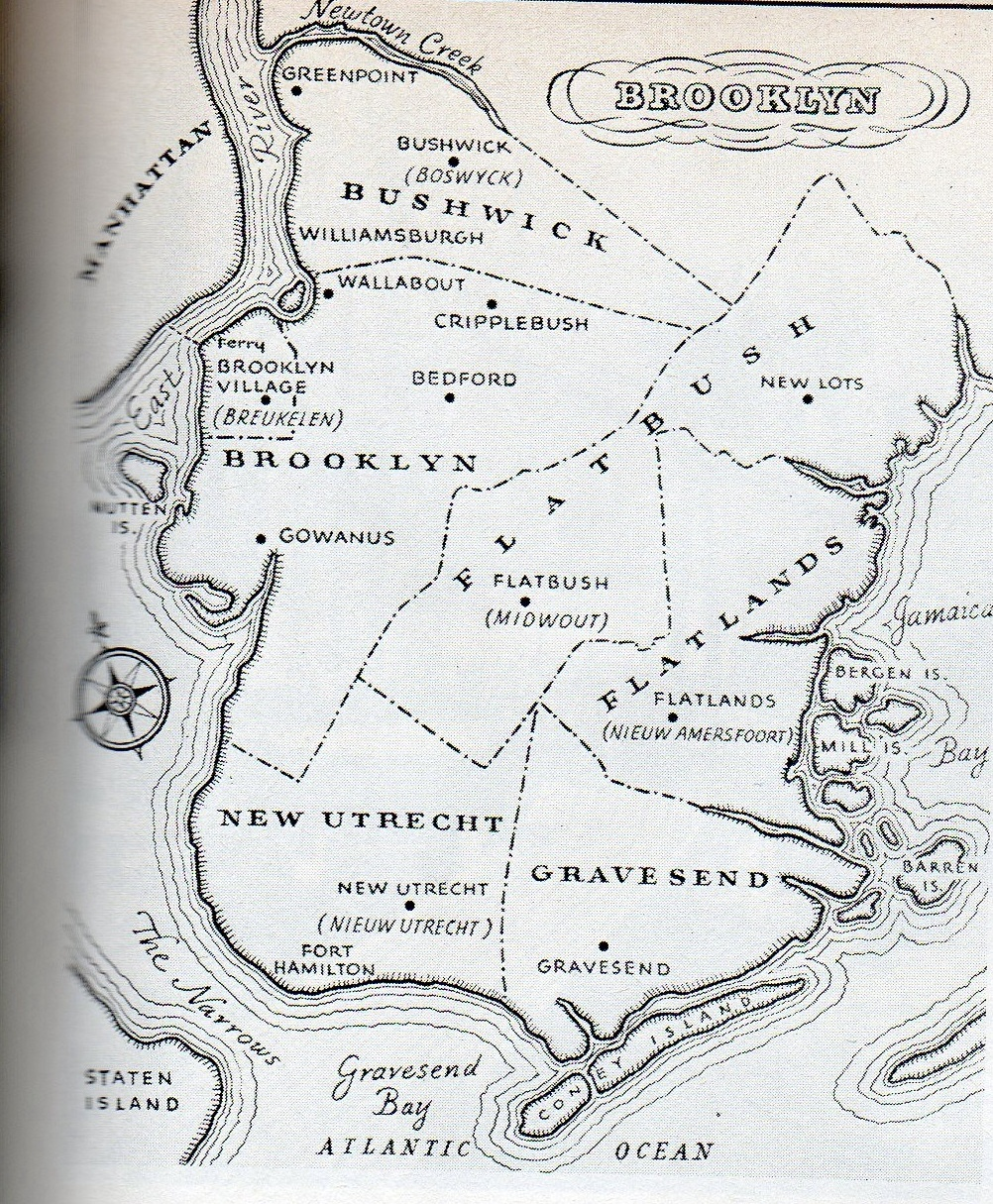 Brooklyns Lost Village Of Cripplebush Ephemeral New York - Brooklyn on the us map