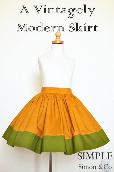 Today I Like… {16/12/11}… A Simple Gathered Skirt Tutorial