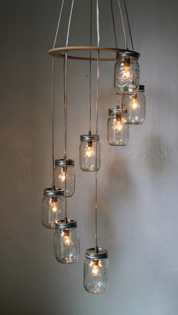 Upcycled Mason Jar Lights From Boots N Gus Epheriell Designs