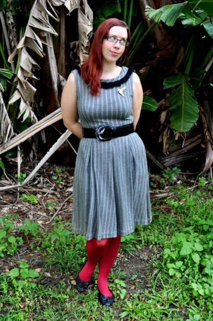 What I Wore: Red and Silver and Black