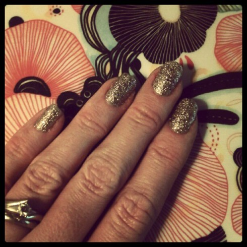 Today I Like… {10/4/12} Gold Gem Crush Nail Colour