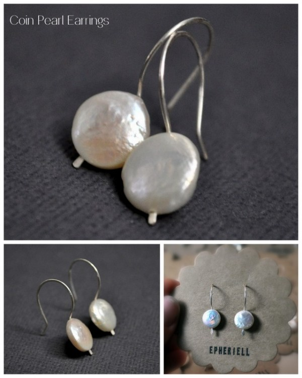 Weekly Special ~ Coin Pearl Earrings
