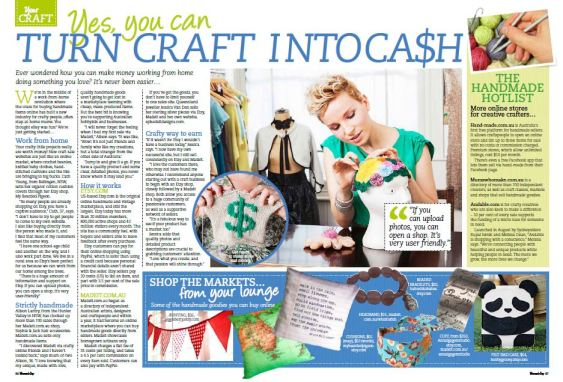 Epheriell Featured in Women`s Day and the Sunday Mail (U on Sunday)