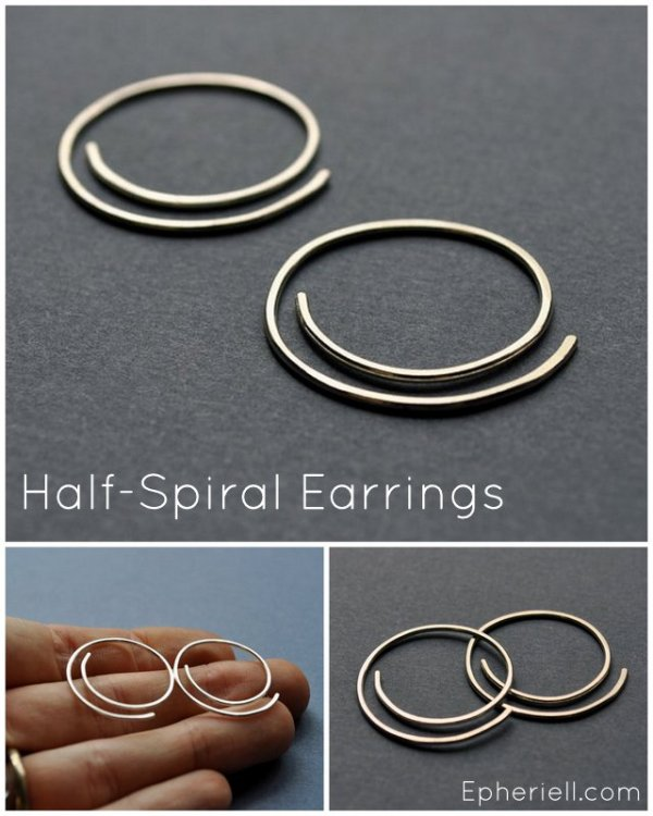 Half-Spiral Earrings ~ Epheriell Weekly Special 1/4/13