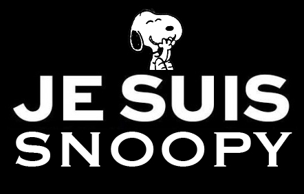 I am Snoopy, because I am tired of hearing about hate and bloodshed.