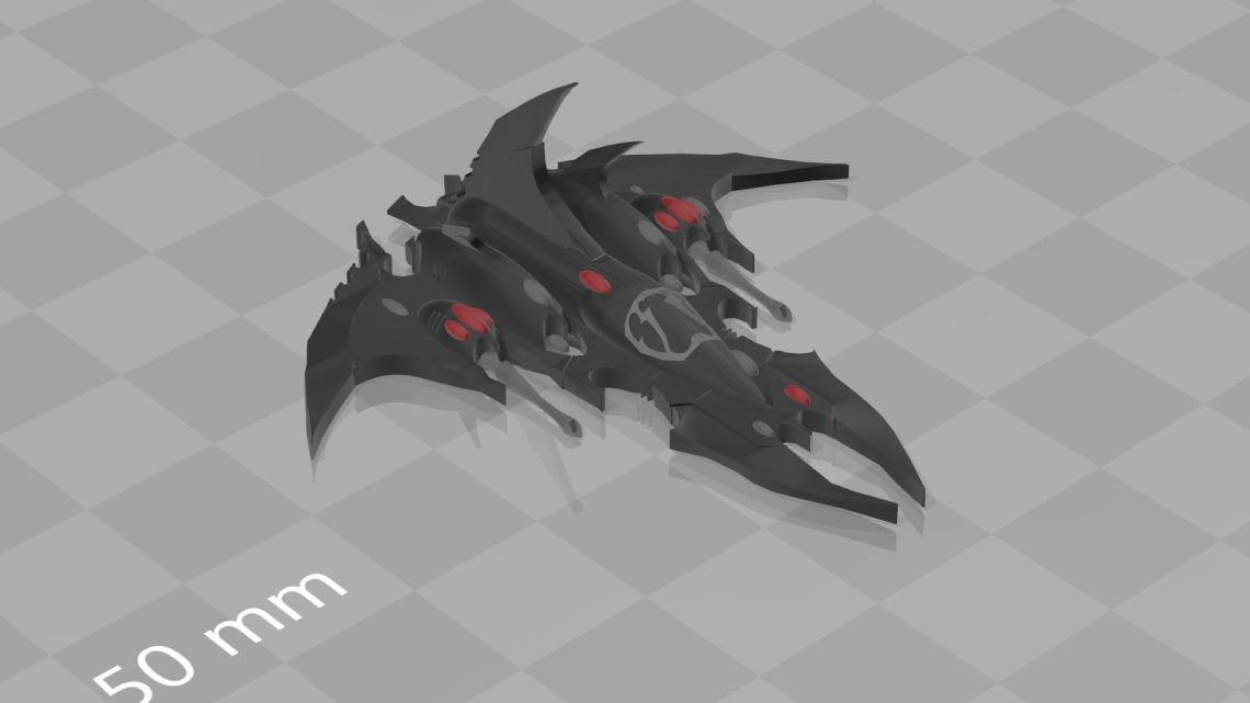 3D printed Epic Razorwing Jetfighter – Dark Eldar
