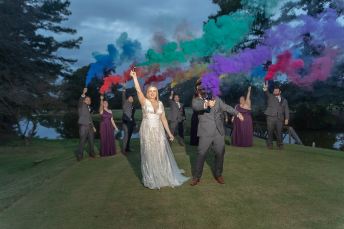 Virginia Beach Wedding Photographer, Virginia Beach Photographer, Epic Beard Photography, Bridal Party, smoke bomb wedding photography