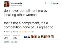 NOT A COMPLIMENT