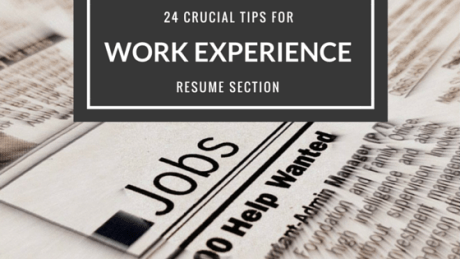 24 crucial tips for work experience resume section epic cv
