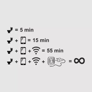 Toilet Phone Usage