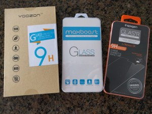 Battle of the Screen Protectors (Yoozon, Maxboost & Spigen)