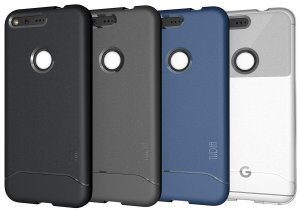 TUDIA Ultra Slim Full-Matte Lightweight ARCH TPU Bumper Shock Absorption Case for Google Pixel
