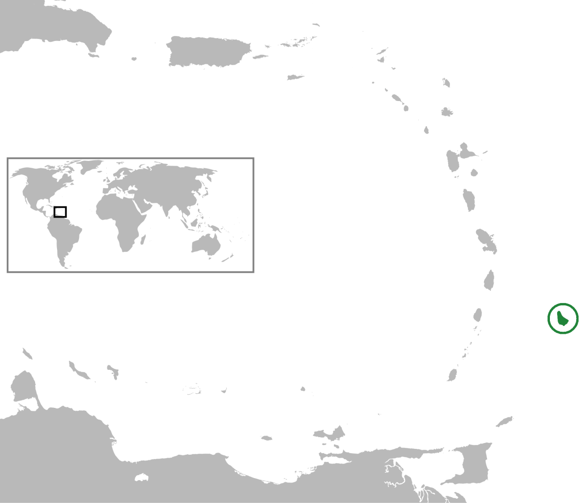 Ubicación geográfica de la isla de Barbados.