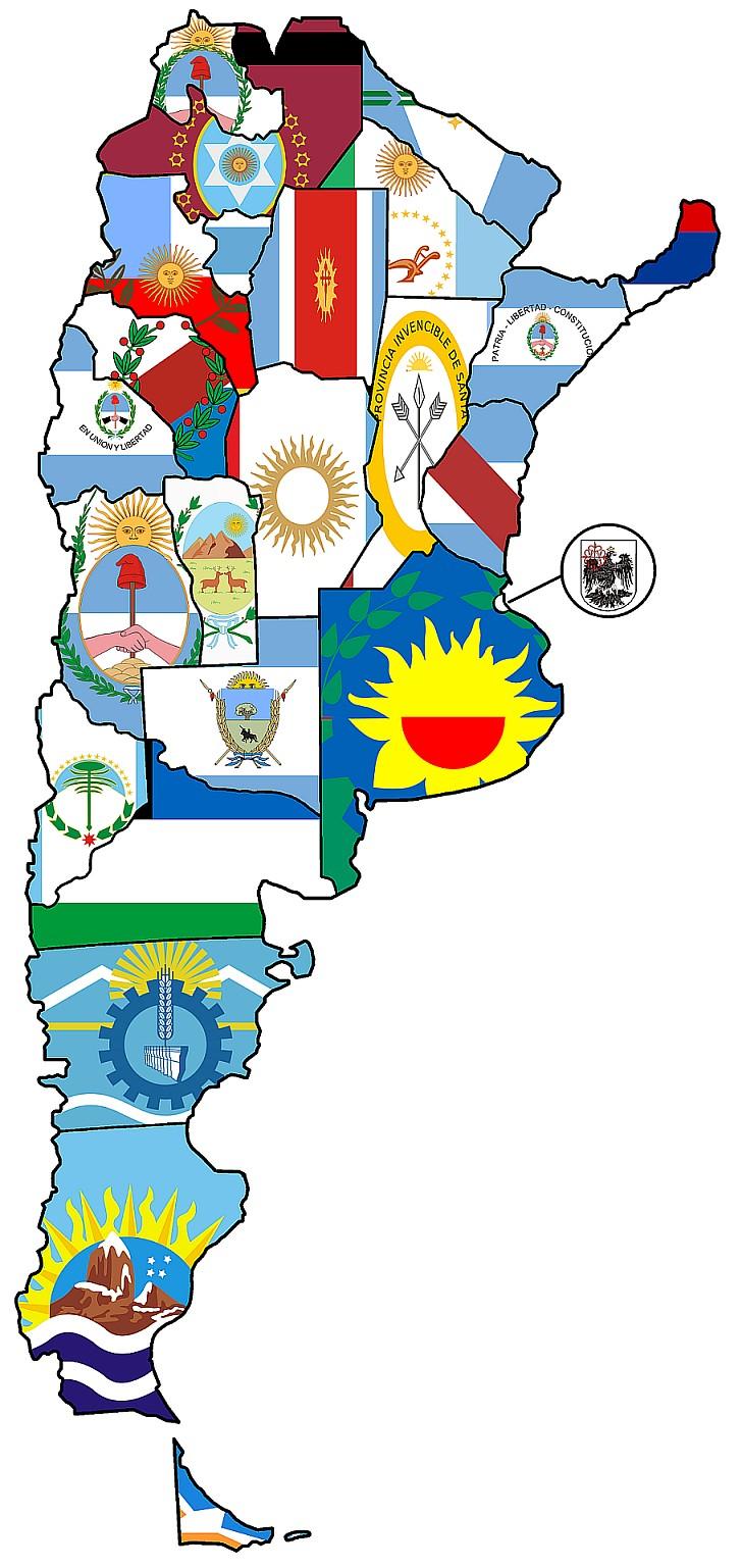 Mapa Banderas Provincias Argentina