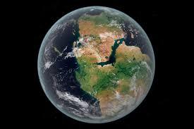 mundo planeta tierra desde el espacio