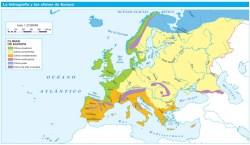 Hidrográfica y Climas de Europa
