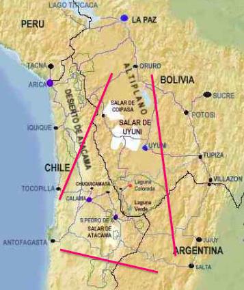 Triangulo de Litio, Sudamérica.